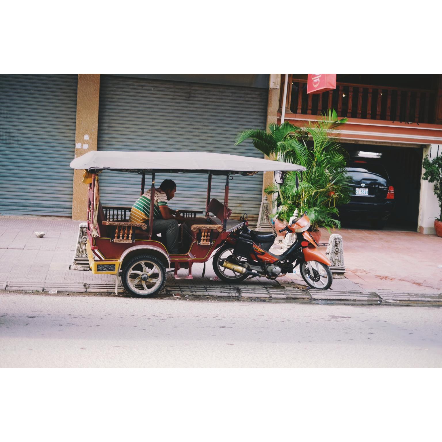 Un tuk tuk au Cambodge