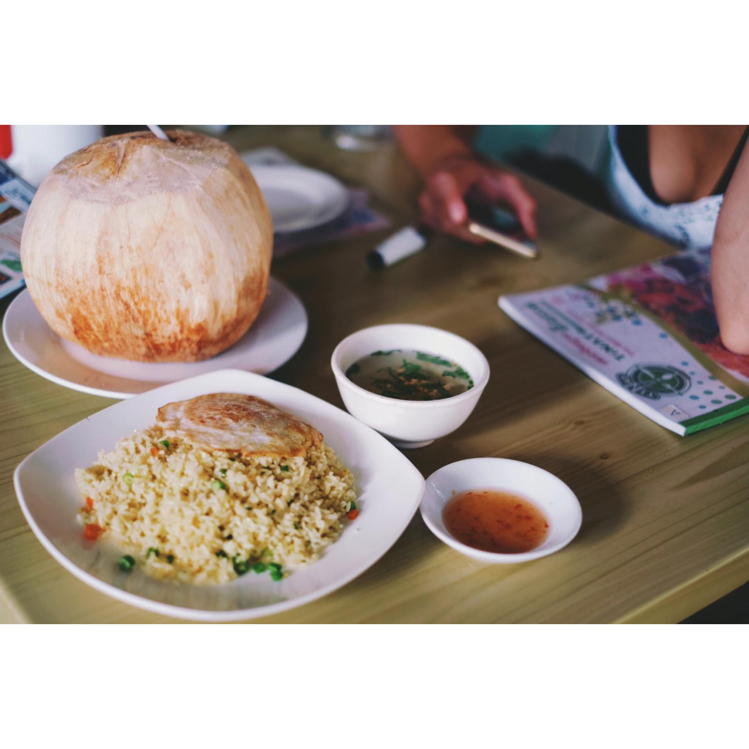 Premier repas au Cambodge